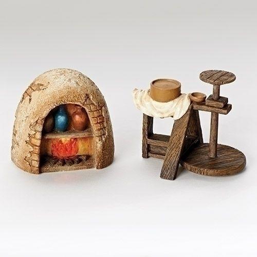 Pottery Wheel and Kiln