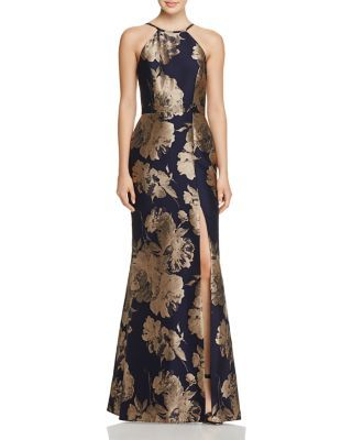 20c24b40c3b94 Avery G Floral Brocade Gown