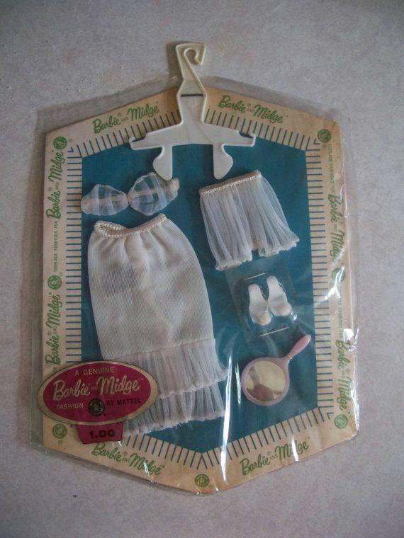 Vintage Barbie White Lingerie Pak 1962 - Never Opened - RARE. $149.99, via Etsy.