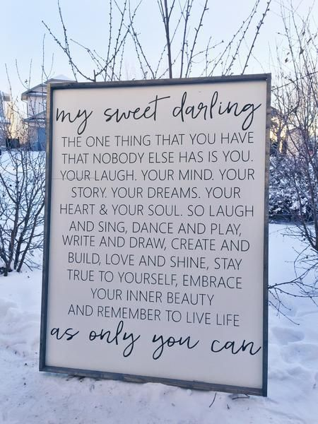 My Sweet Darling | Modern Style Wood Sign