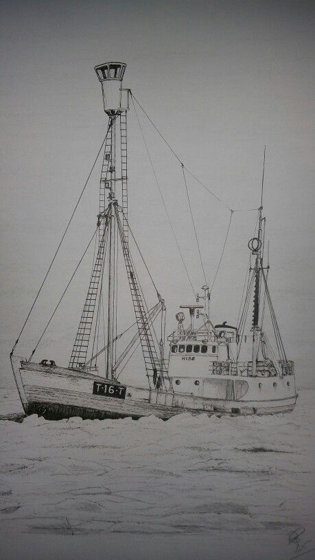 "Fishingvessel and sealer ""Hisø"" of Tromsø scrapped 1982"