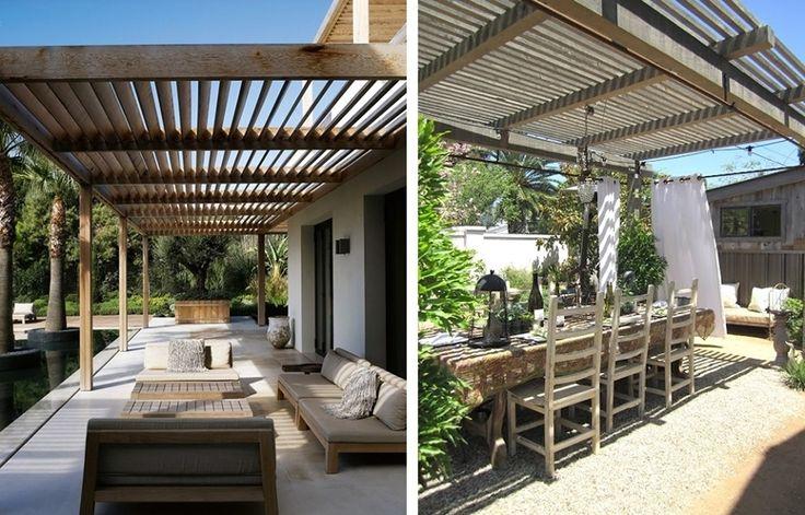 Risultati immagini per patio esterno in legno coperto e trasparente