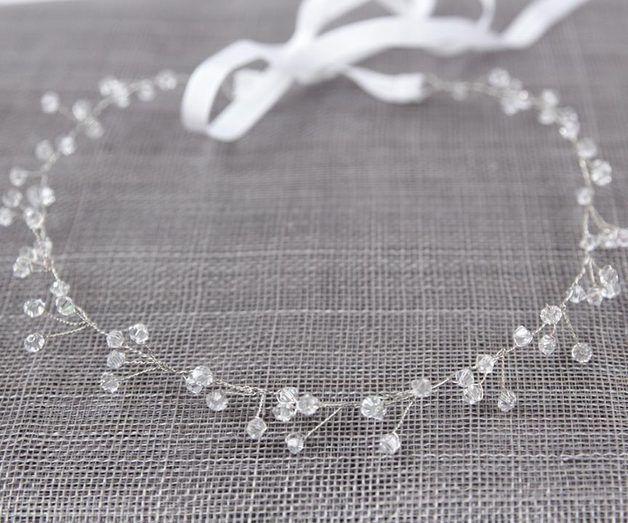 Opaska ślubna z kryształków Swarovskiego - KasiaGirtler - Akcesoria do włosów