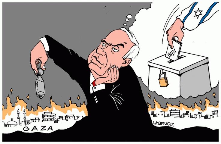 outra eleição em israel, outro massacre em gaza #Latuff