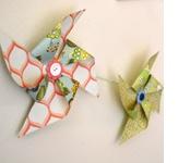 Adorable Paper Pinwheel Tutorial.... love the paper!  Poofy Cheeks