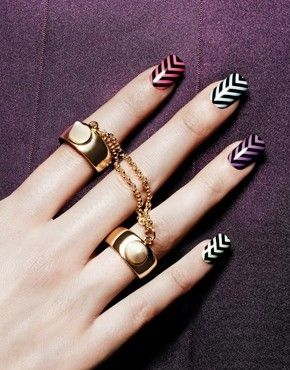 NEW Nail Rock Nail Wraps Nail Polish Sticker ART Chevrons Print Design | eBay