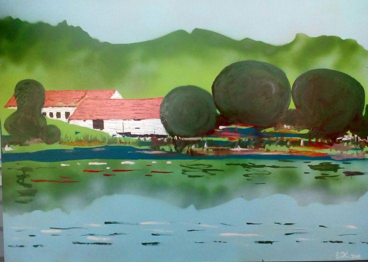 Cetoraz, olej+akryl 70cm x 50cm