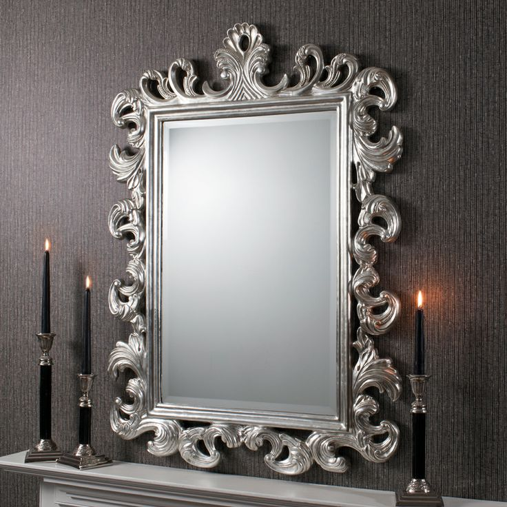 High ultra chic decor large decorative mirrors royale for Large silver decorative mirrors