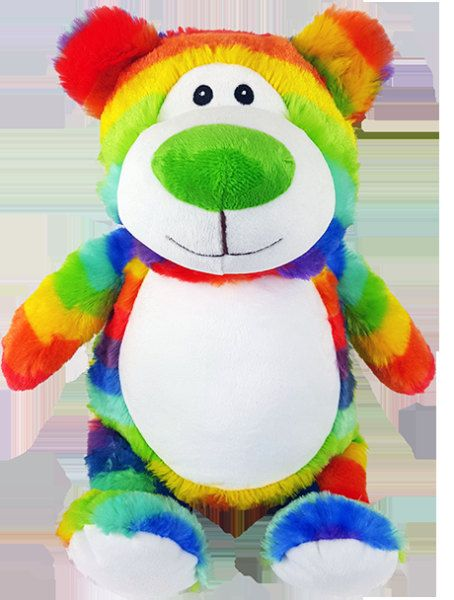 28 best personalised soft toys images on pinterest bunnies baby personalized new rainbow bear baby birth announcement birthday present gift for lover the perfect keepsake gift negle Choice Image