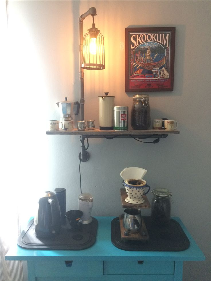 Wall Mount Wooden Shelf and a lamp stand made from 1/2 steel pipe. #diy #steelpipe #lamp