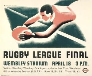 Rugby League Final. Tom Eckersley  Eric Lombers 1936