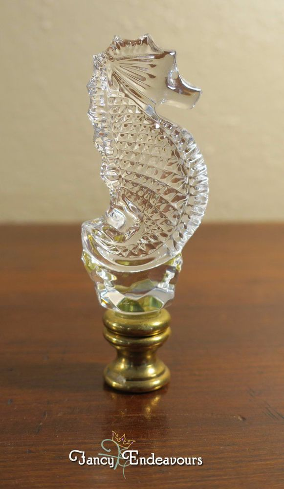 Waterford Crystal Seahorse Lamp Finial Waterford Crystal