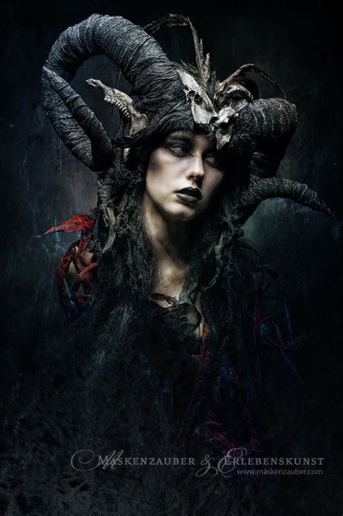 Dark gothic Halloween woodland nymph fantasy fairy costume inspiration ArtWork