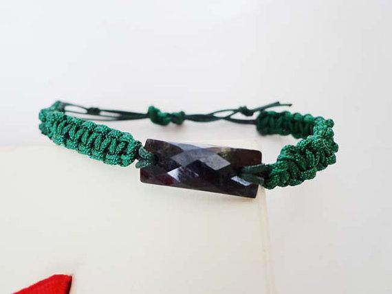 Nephrite jade faceted rectangular bracelet . S438