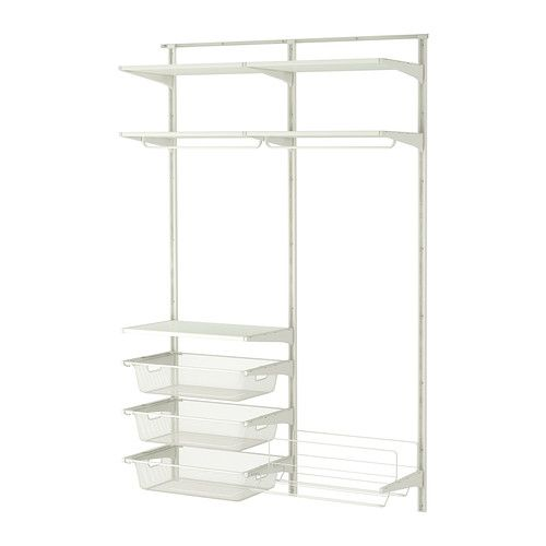 ikea algot wall organizer the parts in the