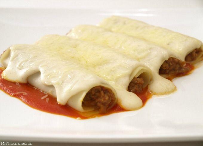 Canelones de carne y paté - MisThermorecetas.com