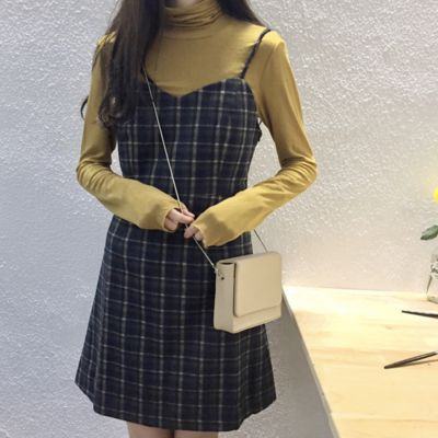 Retro plaid dress