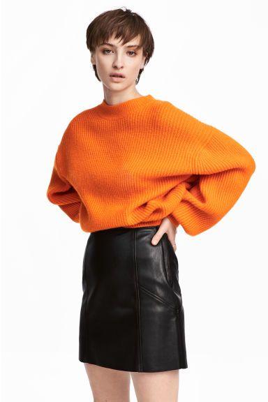 Ribgebreide trui - Oranje - DAMES   H&M NL 1