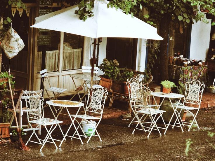 A cafe in Heybeliada, Turkey