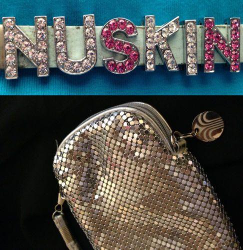 FOR SALE #ebay #Nuskin ageLoc BLING BUNDLE Galvanic spa case, Nu Skin Bracelet & pins