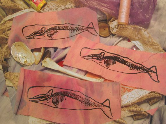 Whale Skeleton Patch