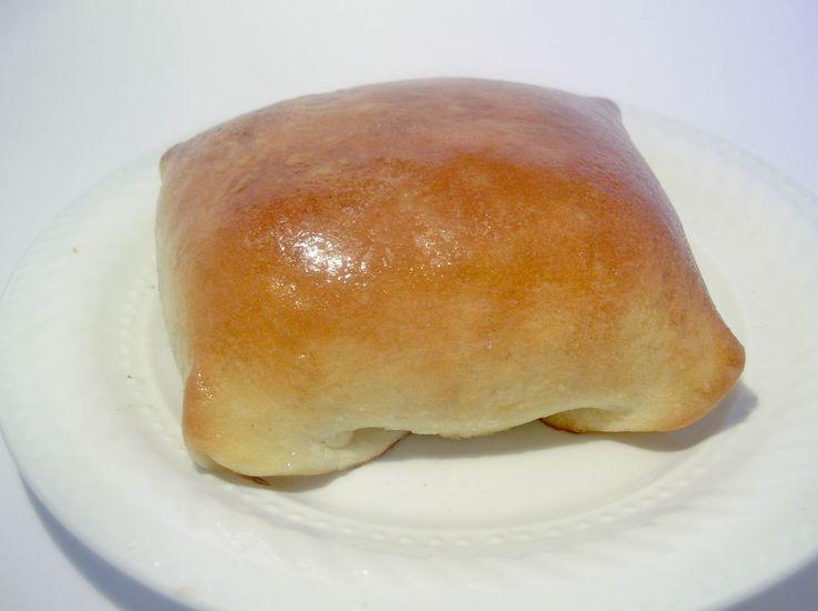 Kraut Bierok (Cabbage Pockets) the dough is really good, always use german sausage instead of hamburger!