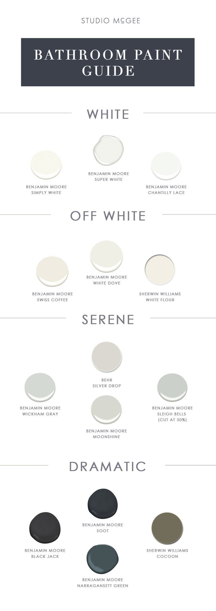 Studio McGee Bathroom Paint Color Guide