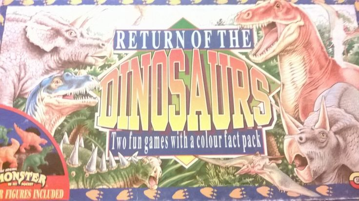 Return Of The Dinosaurs Spears Game Good Condition Vintage Board Game 1993 Rare Board Game Adventure Game 100% complete Monster In My Pocket by billingsleyson on Etsy