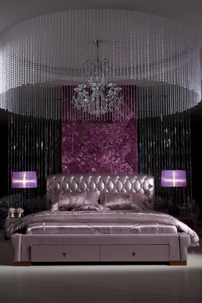 glamorous+bedroom+ideas   Purple Walls Bedroom: Glamorous Purple Theme For Bedroom Design Ideas ...