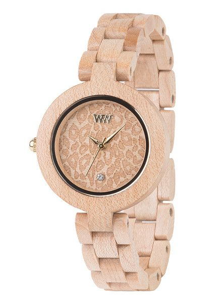 The beautiful WeWOOD Pardus Beige Watch. 100% natural wood. $125.