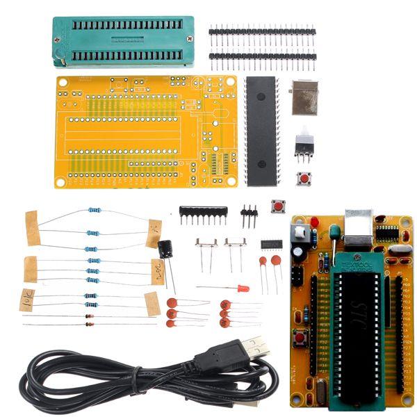 Kit electrónico 51 SMC placa del módulo de sistema mínimo de bricolaje STC89C52 ch340