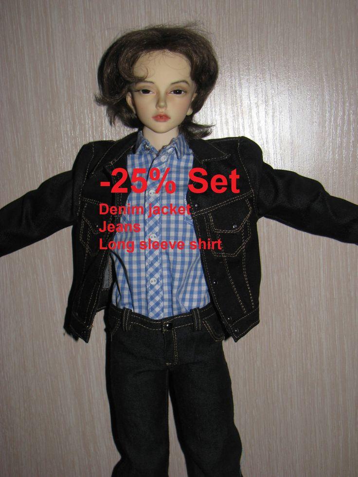 ON Sale 25%  Set  1Shirt+1 Denim jacket+ Jeans for JID boy Iplehouse by NatZayShop on Etsy