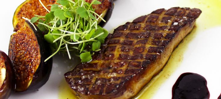Escalopa de foie gras con salsa de naranja