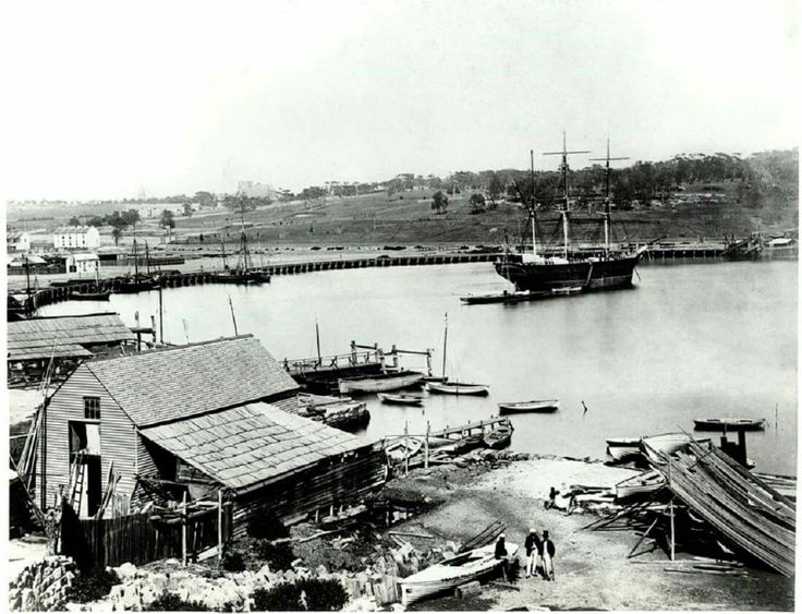 Woolloomooloo Bay in Sydney in 1864. •State Archives of NSW •