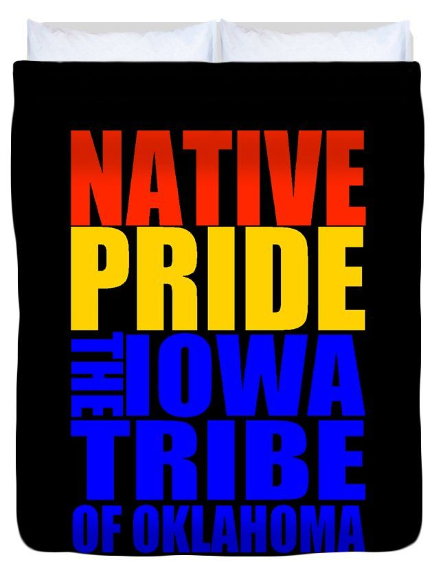 Federally Recognized Tribes Duvet Cover featuring the mixed media Iowa Tribe Of Oklahoma by Otis Porritt