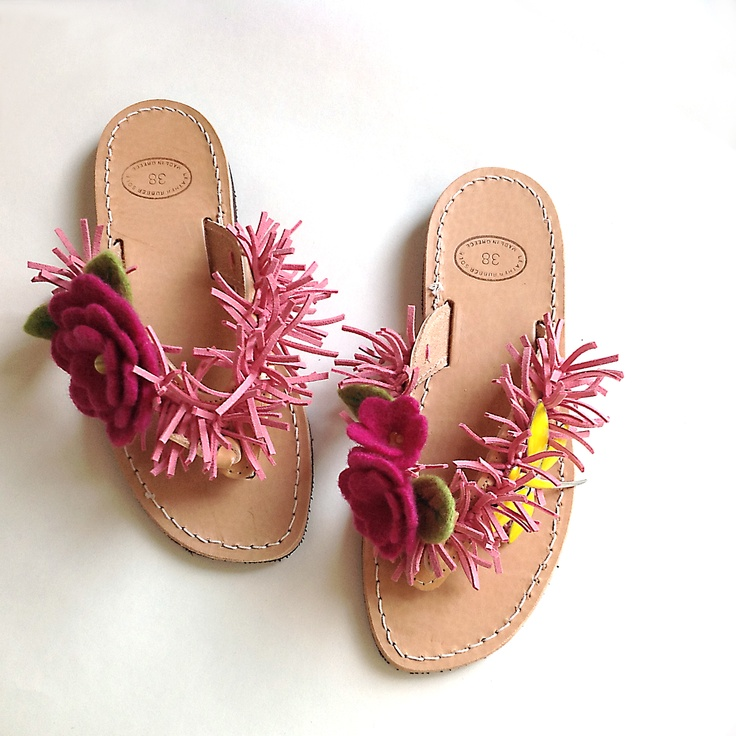 [Dart creations] leather sandals