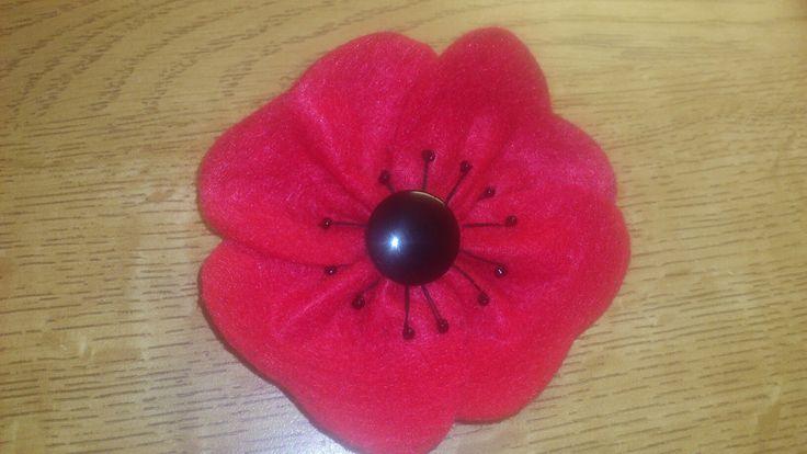 Remembrance Poppy from felt