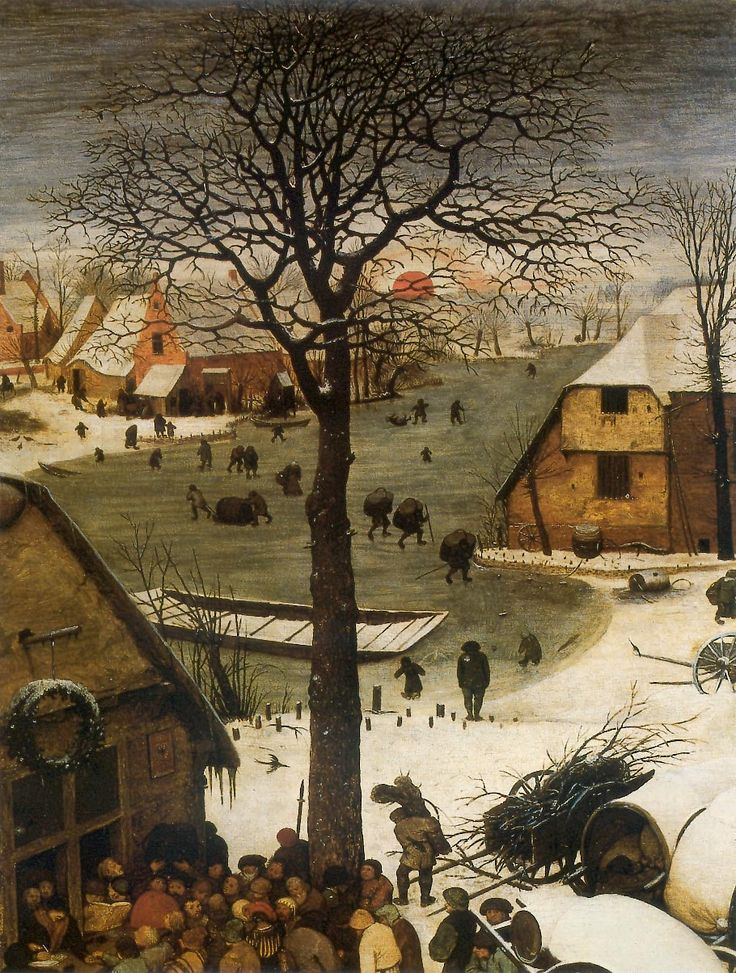 LOVE northern renaissance art. The Numbering at Bethlehem : Pieter Bruegel the Elder : 1566