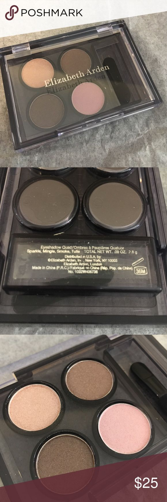 Elizabeth Arden eyeshadow Quad palette, colors include Sparkle, Mingle, Smoke, and Tulle. Brand new, never used. Elizabeth Arden Makeup Eyeshadow