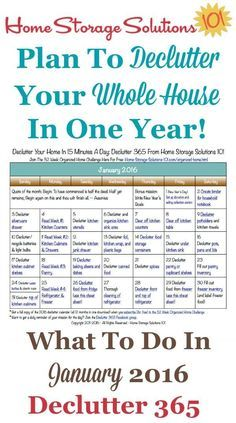 How to declutter your whole house in one year. Plans for January. #productivity Productivity Tip #productive