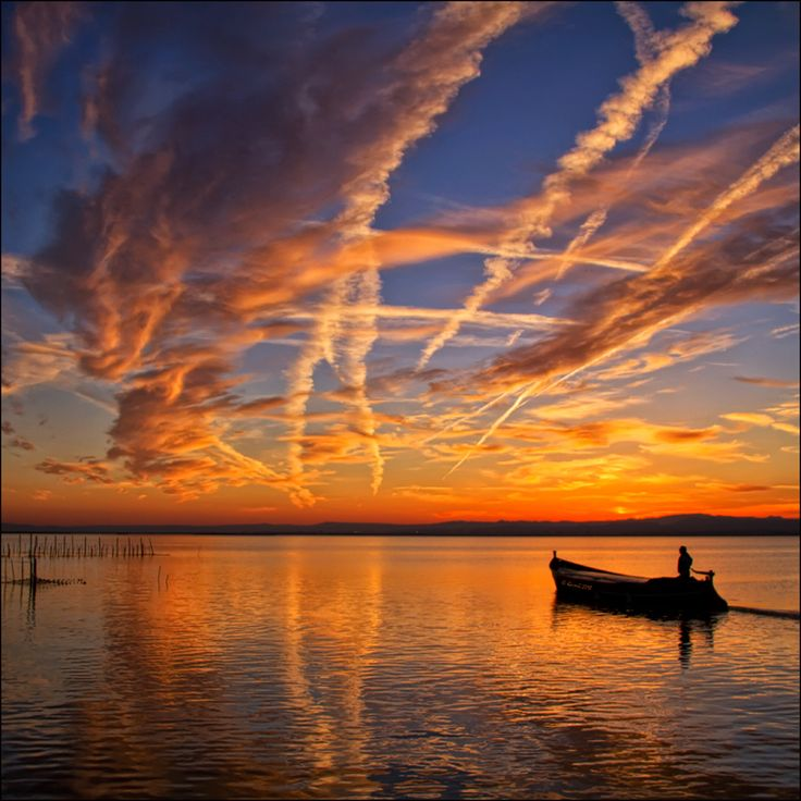 Jet streams: Sunsets Sunris, Photos Avi, Sunris Sunsets, Quim Granell, Valence, Bonitas Valencia, Ocean Photography, Jet Stream, Albufera Valencia
