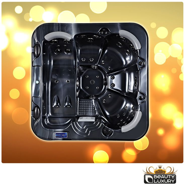 Black & Gold Hot tub's Beauty Luxury. New colors for your #relax!  http://www.beauty-luxury.com/en/hot-tub-spa-c-8.html