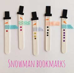 Last Minute Christmas Craft Ideas for Kids - Crafty Morning - snowman popsicle stick bookmarks