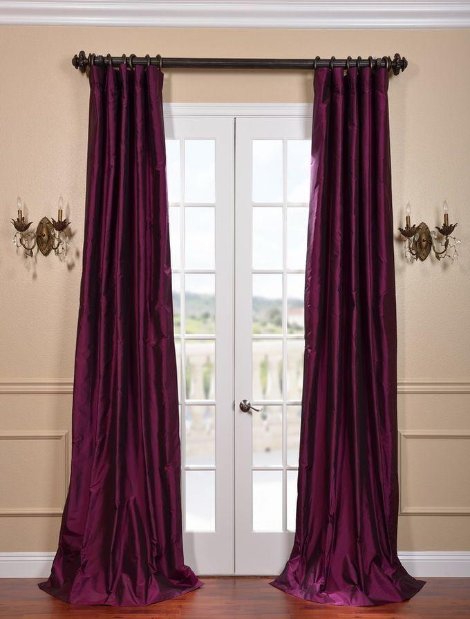 Chambord Silk Taffeta Curtain - SKU: SSTF-6 at https://halfpricedrapes.com
