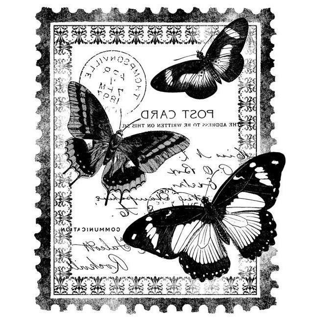 Farfalle su francobollo