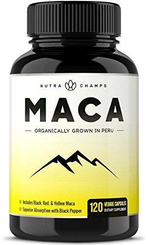 Organic Maca Root Powder Capsules - 1000mg Peru Grown - Energy, Fertility & Sex Health Supplement for Men & Women - Vegan Pills - Gelatinized + Black Pepper Extract for Superior Results #Organic #Maca #Root #Powder #Capsules #Peru #Grown #Energy, #Fertility #Health #Supplement #Women #Vegan #Pills #Gelatinized #Black #Pepper #Extract #Superior #Results