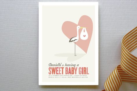 Sweet Delivery Baby Shower Invitations by guess what? at minted.com