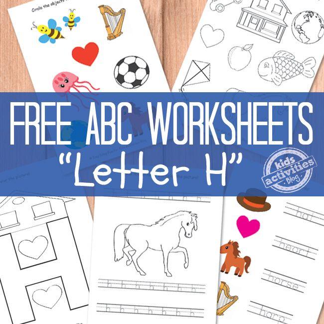 Letter H Worksheets Free Kids Printables
