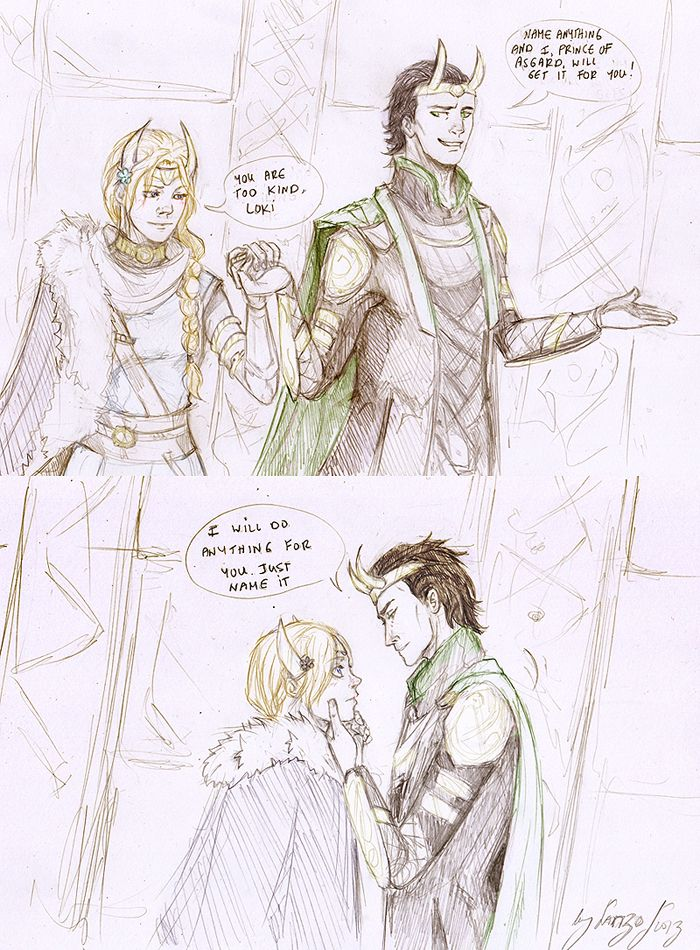 Loki and Sigyn 5 by Sanzo-Sinclaire on DeviantArt
