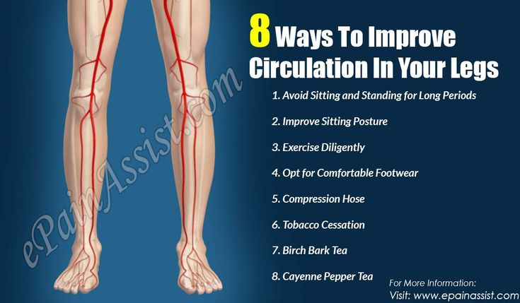 how to improve blood circulation in legs and feet nhs